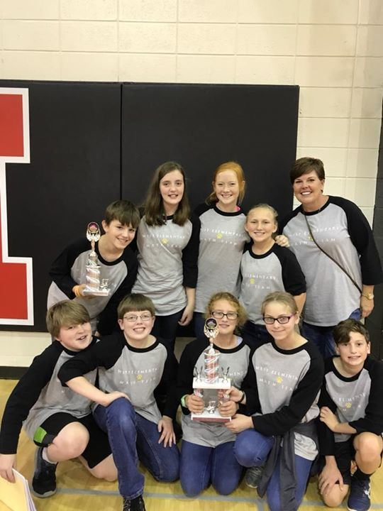 6th Grade Math Team Places Third