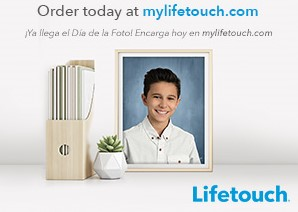 Lifetouch logo and announcement to order pictdures