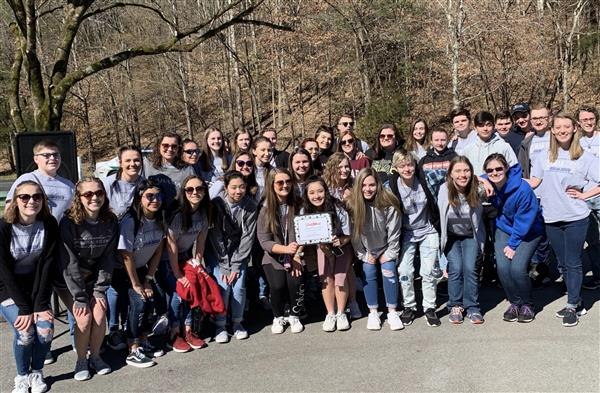 CHS choir on site in Dollywood after their performance