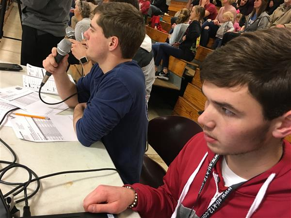 Broadcast crew at CHS basketball