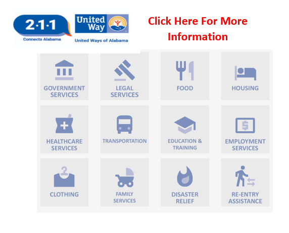 click here to visit the 211 connects Alabama website