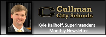 Kallhoff headshot with CCS logo and text regarding monthly newsletter