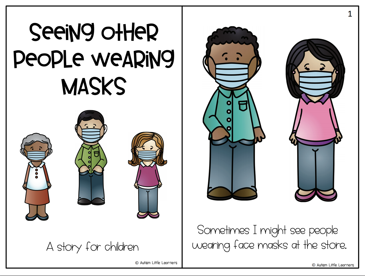 click here to read a social story for children about wearing masks