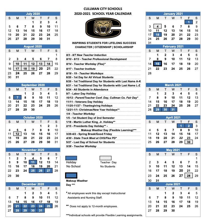 CCS Calendar / 2020   2021 CCS Calendar