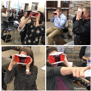 Teachers try out VR goggles