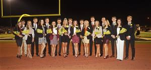 Homecoming Court and escorts