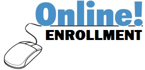 decorative image of computer mouse and words online enrollment